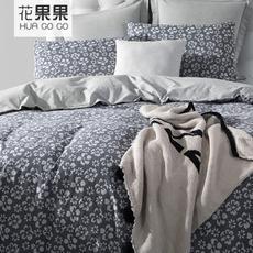 花果果 花梦全棉四件套 AB面双层大提花床上四件套