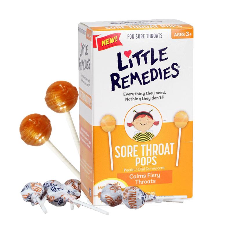 美国小鼻子Little Colds 天然蜂蜜儿童润喉棒棒糖(适合1岁以上) 有效缓解咳嗽及喉咙不适 新老包装随机发货