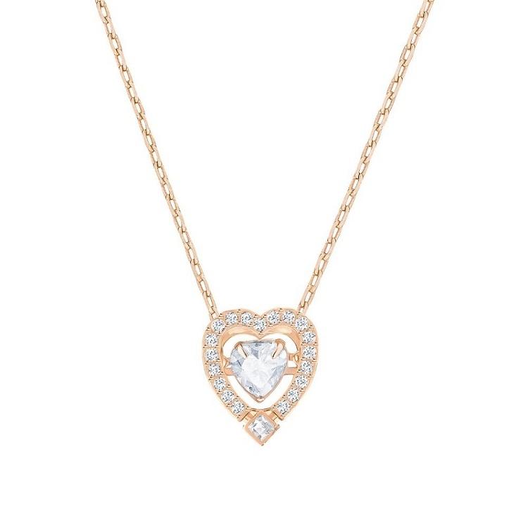 【海外直邮】Swarovski施华洛世奇 跳动的心 心型玫瑰金 5284188 水晶女士项链