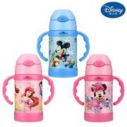【包邮】迪士尼Disney-儿童保温杯260毫升双手柄宝宝不锈钢水杯