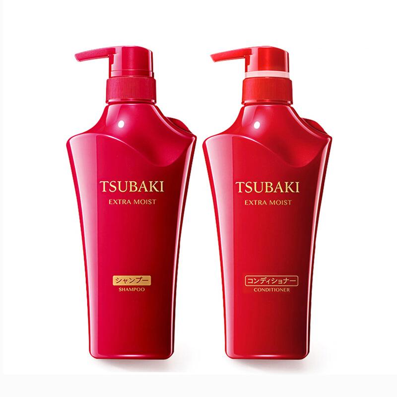 日本 Shiseido资生堂 丝蓓绮无硅控油滋养红椿 洗护套装 洗发水500ml+护发素500ml  适合中干性及烫染发质