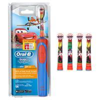 【德国直邮】BRAUN 博朗ORAL-B 欧乐B汽车总动员儿童电动牙刷1支+电动牙刷刷头4支装