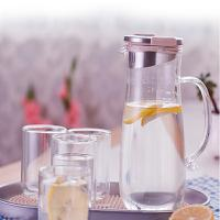 居元素玻璃凉水杯带把手家用凉杯凉水壶套装耐热玻璃冷水壶琉畅