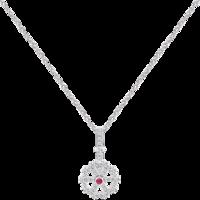 周大福 monologue独白 主角系列 寻找摩天轮 银镶托帕石红宝石项链