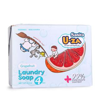 U-ZA婴幼儿柚子洗衣皂四联装X2(176g*8)