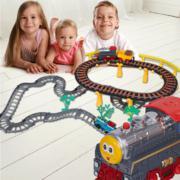 百变托马斯双层轨道车双火车头益智DIY组合拼装玩具3C认证厂家直供