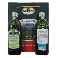 【买2付1】意大利莫尼尼MONINI美味特级初榨橄榄油750ml*2瓶礼盒