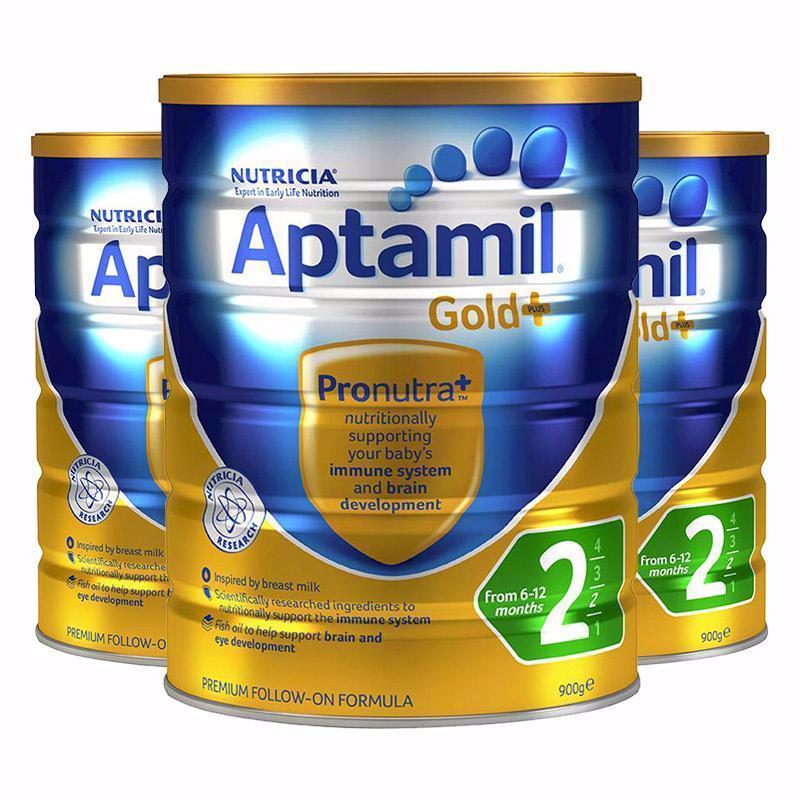 【3罐装】【澳洲直邮 包税包邮】 Aptamil Gold爱他美 金装版奶粉 2段 AY