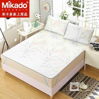 米卡多凉席1.8m床可折叠冰丝席三件套1.5夏季单人学生宿舍