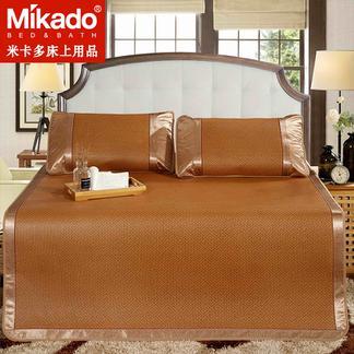 米卡多御藤席1.8m床凉席1.5m三件套可折叠单人宿舍学生席