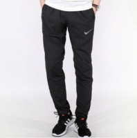 Nike耐克运动裤男2017新款速干梭织直筒训练长裤运动裤800202-010