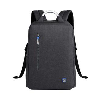 爱华仕(OIWAS)商务电脑包14英寸 男士多功能时尚双肩包 女休闲潮流书包背包