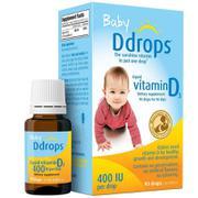 保税区直发 美国Baby Ddrops 维生素D3滴剂2.5ml(美版)