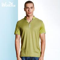 哈雷纳金狐狸 夏季新款青年男士翻领纯色短袖T恤半袖打底衫H532153619