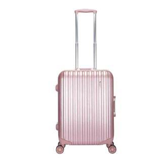 爱华仕(OIWAS)铝框拉杆箱 登机旅行箱 玫瑰金行李箱 银色拉丝 24英寸