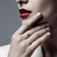 DADA珠宝dance系列 珍珠可调节18k金戒指耳饰(一饰多戴)【惠逛.惠买】