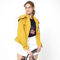 ELAND18夏季新款时尚韩版收腰短款风衣外套女专柜同款EEJA82401M【夏款】