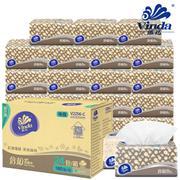 【包邮】Vinda维达-倍韧抽纸整箱24包共4320抽加厚2层原木自然无香柔韧宝宝可用餐面卫生纸巾