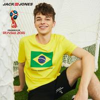 JackJones杰克琼斯 世界杯官方授权FIFA新品巴西男装夏印花运动T恤 218301540