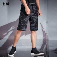 意树中国风短裤男五分裤XAHB77C3643