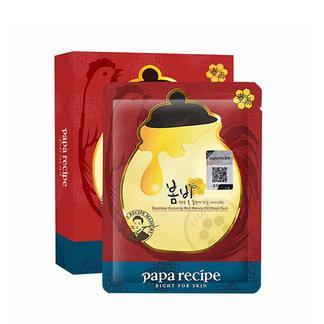 PapaRecipe春雨红参蜂蜜精油面膜25g*10片/盒