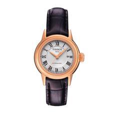 天梭Tissot卡森自动机械表瑞士手表皮带女表T085.207.36.013.00