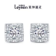 Leysen1855莱绅通灵王室珠宝 耳钉耳坠18K钻石耳饰 王后(实物以证书为准)