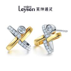 Leysen1855莱绅通灵王室珠宝18K金钻石耳钉耳饰柏林之星(实物以证书为准)
