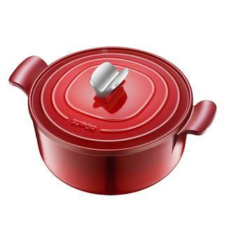 苏泊尔珐琅铸铁锅圆形炖锅铸铁搪瓷炖锅煲汤锅电磁炉通用FLT22A1