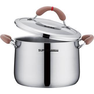 新品苏泊尔芯彩奶锅小红圈不锈钢汤奶锅煮粥下面泡面锅电磁炉燃气RT22AA1
