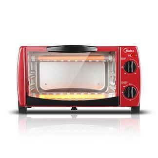 美的(Midea)电烤箱 家用 迷你多功能 烘焙蛋糕小烤箱 T1-102D 红色
