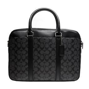 【武商网购全球】Coach 蔻驰 PERRY系列黑灰色PVC配皮男士包袋 F54803CQBK