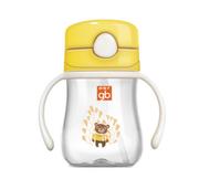 好孩子儿童水杯吸管训练杯婴儿水杯带吸管手柄带盖防摔学饮水杯