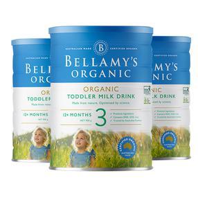 【3罐装】【澳洲直邮|武商网购全球店】澳大利亚Bellamy's贝拉米有机婴儿牛奶粉3段(12个月以上宝宝)900g