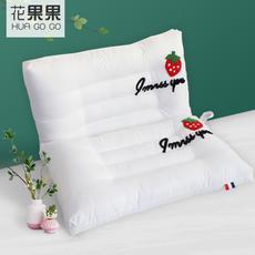 花果果 草莓水洗枕 舒适睡眠 羽丝绒填充